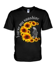 African Grey You Are My Sunshine V-Neck T-Shirt thumbnail