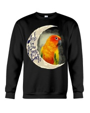 Sun Conure I Love You To The Moon And Back  Crewneck Sweatshirt thumbnail