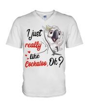 I just Really Like Cockatoo ok V-Neck T-Shirt thumbnail