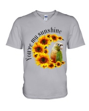 Pineapple Conure You Are My Sunshine  V-Neck T-Shirt tile
