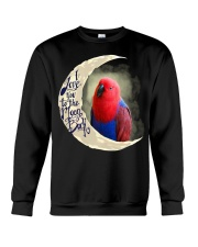 Red Eclectus I Love You To The Moon And Back Crewneck Sweatshirt thumbnail