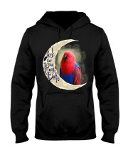 Red Eclectus I Love You To The Moon And Back Hooded Sweatshirt thumbnail
