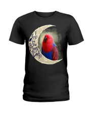 Red Eclectus I Love You To The Moon And Back Ladies T-Shirt thumbnail