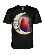 Red Eclectus I Love You To The Moon And Back V-Neck T-Shirt thumbnail