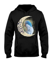 Blue Quaker I Love You To The Moon And Back  Hooded Sweatshirt thumbnail
