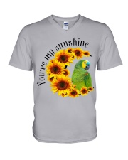 Blue Fronted Headed Amazon You Are My Sunshine  V-Neck T-Shirt thumbnail