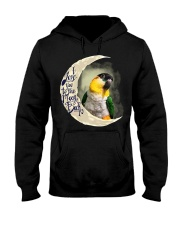 Black Head Caique I Love You To The Moon And Back Hooded Sweatshirt thumbnail