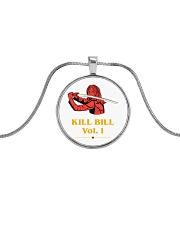 kill bill Metallic Circle Necklace front
