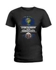 OREGON WITH MINNESOTA ROOT SHIRTS Ladies T-Shirt thumbnail