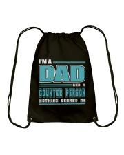 DAD AND COUNTER PERSON JOB SHIRTS Drawstring Bag thumbnail