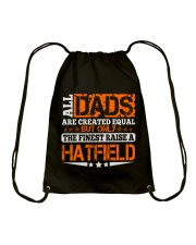 FINEST DAD RAISE HATFIELD NAME SHIRTS Drawstring Bag thumbnail