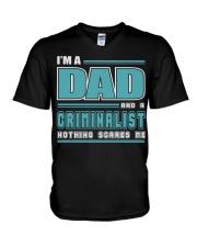 DAD AND CRIMINALIST JOB SHIRTS V-Neck T-Shirt thumbnail