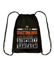CORRECTIONAL NURSE SARCASM JOB TSHIRTS Drawstring Bag thumbnail