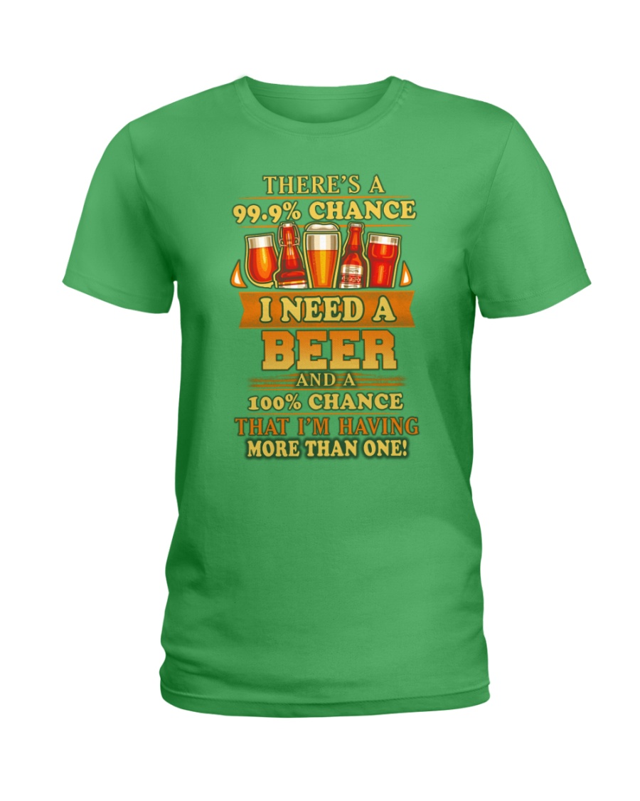 I Need A Beer Ladies T-Shirt