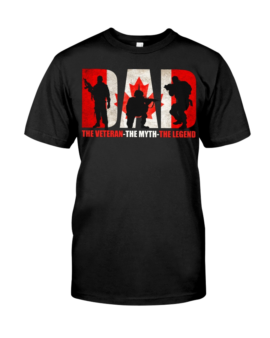 Canadian Veteran Grandpa-DAD Classic T-Shirt