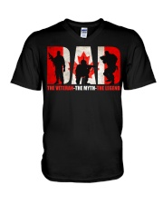 Canadian Veteran Grandpa-DAD V-Neck T-Shirt thumbnail