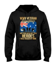 WWII Veteran Daughter Hooded Sweatshirt thumbnail