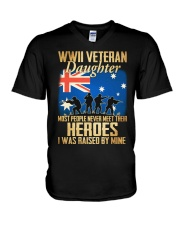 WWII Veteran Daughter V-Neck T-Shirt thumbnail