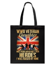 WWII Veteran Daughter Tote Bag tile