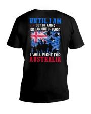 Fight For Australia V-Neck T-Shirt thumbnail