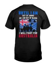 Fight For Australia Classic T-Shirt back