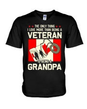 Being A Grandpa Canada V-Neck T-Shirt thumbnail
