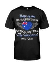 AU Veteran's Wife-Husband Paid Classic T-Shirt front