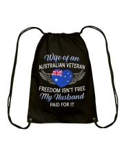 AU Veteran's Wife-Husband Paid Drawstring Bag thumbnail