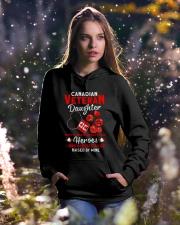 Hero Canadian Veteran Daughter Hooded Sweatshirt lifestyle-holiday-hoodie-front-5