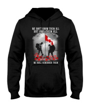 Remember Them Hooded Sweatshirt front