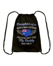 AU WWII Veteran's Daughter-Dad Paid Drawstring Bag thumbnail