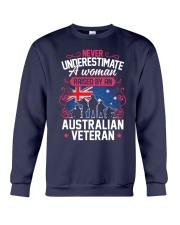 A Woman Raised By An Australian Veteran Crewneck Sweatshirt thumbnail
