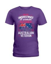A Woman Raised By An Australian Veteran Ladies T-Shirt thumbnail