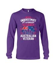 A Woman Raised By An Australian Veteran Long Sleeve Tee thumbnail