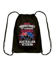 A Woman Raised By An Australian Veteran Drawstring Bag thumbnail