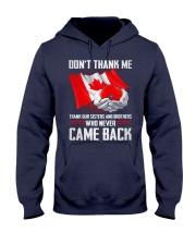 CA Veteran-Don't Thank Hooded Sweatshirt thumbnail