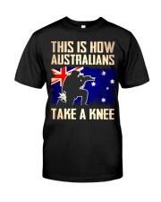 Australians Take A Knee Classic T-Shirt front
