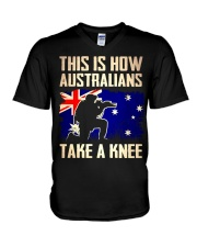 Australians Take A Knee V-Neck T-Shirt thumbnail