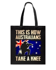 Australians Take A Knee Tote Bag thumbnail