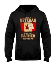 I'm A Veteran Hooded Sweatshirt front