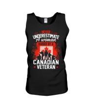 A Woman Raised By A Canadian Veteran Unisex Tank thumbnail