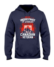 A Woman Raised By A Canadian Veteran Hooded Sweatshirt thumbnail