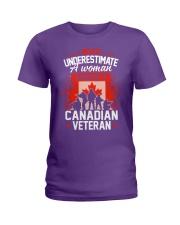 A Woman Raised By A Canadian Veteran Ladies T-Shirt thumbnail