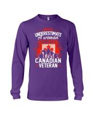 A Woman Raised By A Canadian Veteran Long Sleeve Tee thumbnail