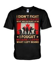 Didn't Fight V-Neck T-Shirt thumbnail