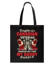 Canadian Vet Daughter-Freedom Tote Bag thumbnail