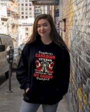 Canadian Vet Daughter-Freedom Hooded Sweatshirt lifestyle-unisex-hoodie-front-1
