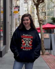 Canadian Vet Daughter-Freedom Hooded Sweatshirt lifestyle-unisex-hoodie-front-2