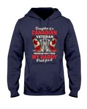 Canadian Vet Daughter-Freedom Hooded Sweatshirt tile