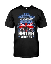 A Woman Raised By A British Veteran Classic T-Shirt front